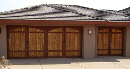 Arizona's Garage Door Doctor sells and installs custom garage doors such as wood overlay garage doors in Phoenix, AZ